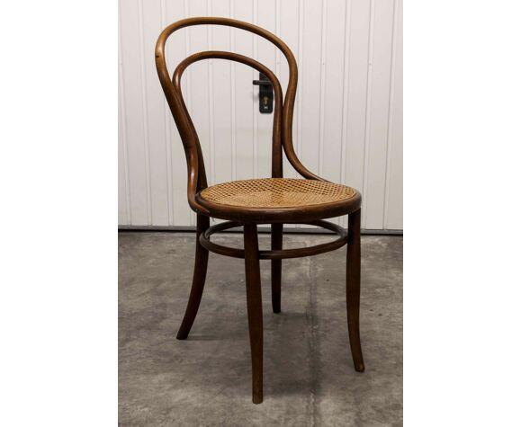 Chaise  bistrot bois courbé 1900 cannage