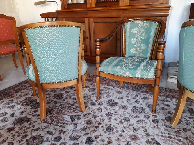 Lot de 3 fauteuils style empire