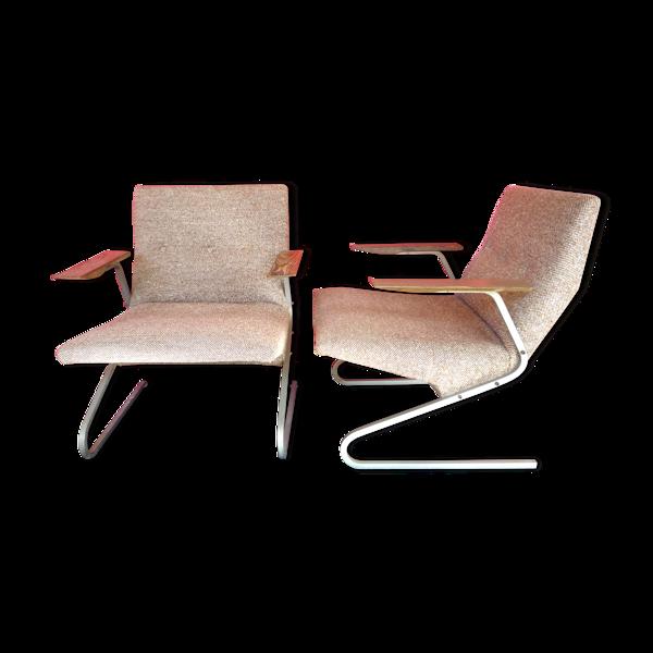 Selency Paire de fauteuils Georges Van rijck pour Beaufort vers 1950