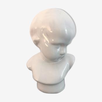 """Buste d'enfant"""" par Angelo Minghetti Italie XIXè"""