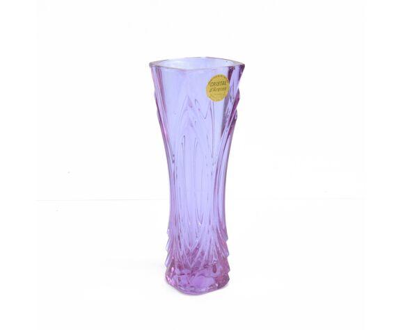 Vase en cristal cristal D'Arques France années 1970