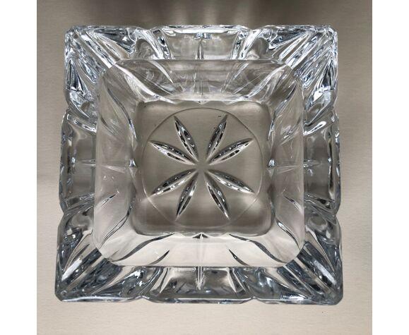Paire de cendriers en cristal