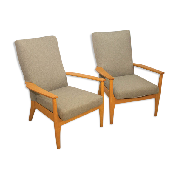 Pair of PK988 / 1023 English armchairs from Parker Knoll 1960s