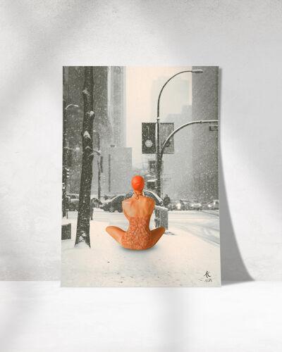 Print collage format a3. mi-janvier