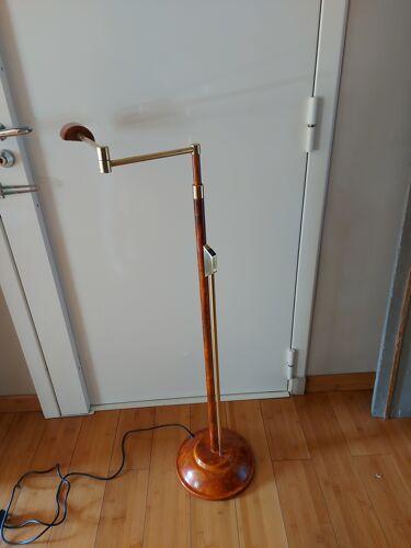 Lampadaire en métal, façon loupe d'orme années 80, Gandelin