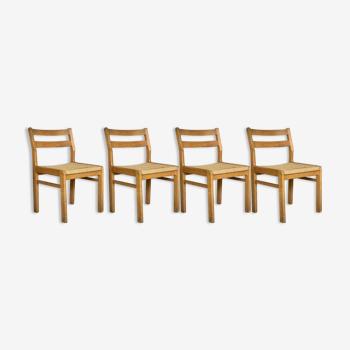 Ensemble de 4 chaises scandinaves Skovmand & Andersen - Danemark 1960