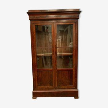 Vitrine d'époque Louis Philippe en acajou deux portes vitrées XIX siècle