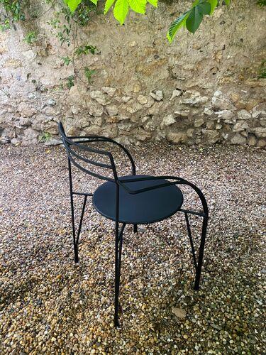 """Chaise """"Lune d'argent"""" design Pascal Mourgue"""