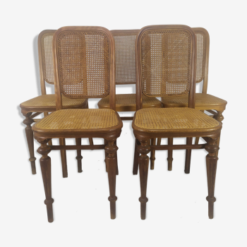 Chaises bistrot canné Thonet
