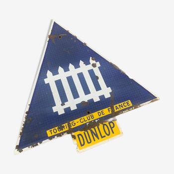 Plaque émaillée Garage tourin club Dunlop