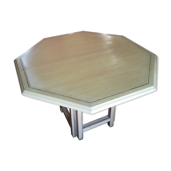 Selency 1 Table en merisier cérusé