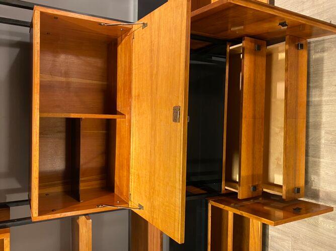 Bibliothèque modulaire vintage 60