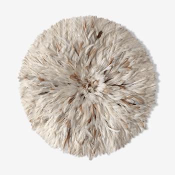 Juju hat blanc et beige 85 cm