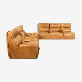 Canapé modulaire sectionnel et chaises longues fabriqués par COR Allemagne, années 1970.