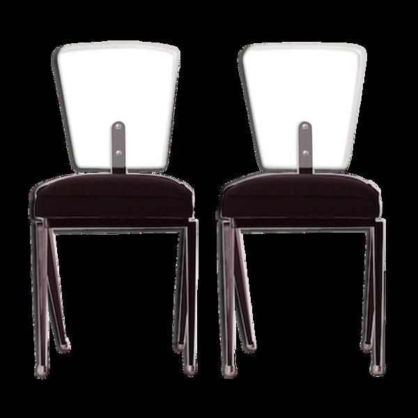 Chaises en verre trempé années 1950