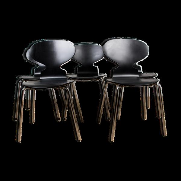 Selency Série de 5 chaises modèle « Fourmi » par Arne Jacobsen pour Fritz Hansen