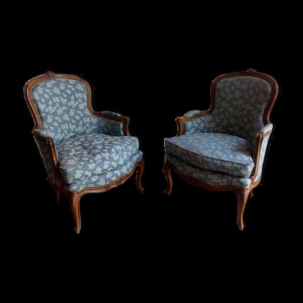 Paire de fauteuil Louis XV