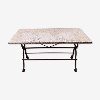 Table rectangle avec piètement en fer