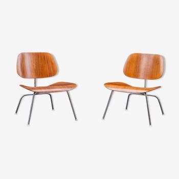 Paire de chaise LCM  en noyer de Charles & Ray Eames - Herman Miller