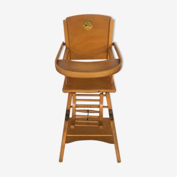 Wooden children's high chair 40/50s
