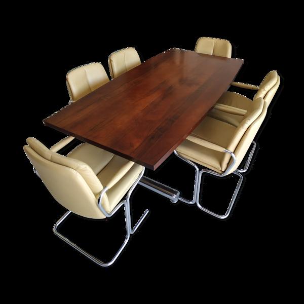 Set Pieff avec 6 fauteuils Eleganza et table TT