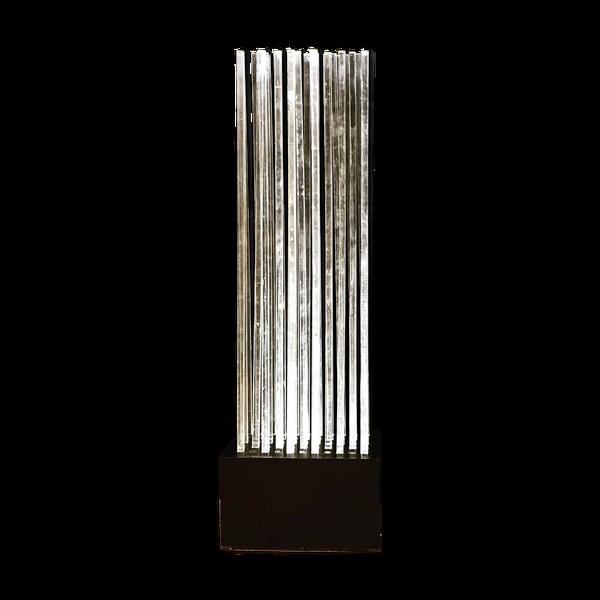 Lampadaire cinetique 1970 en tubes d altuglas