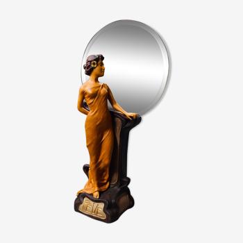 Statue miroir Art nouveau