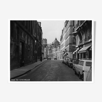 Photographie vintage rue de Grenelle Paris 1965