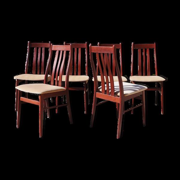 Série de 6 chaises danoises en teck Farstrup