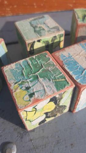 Boîte de jeu de cubes vintage