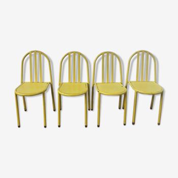 Ensemble de 4 chaises Mallet Stevens édition des années 80