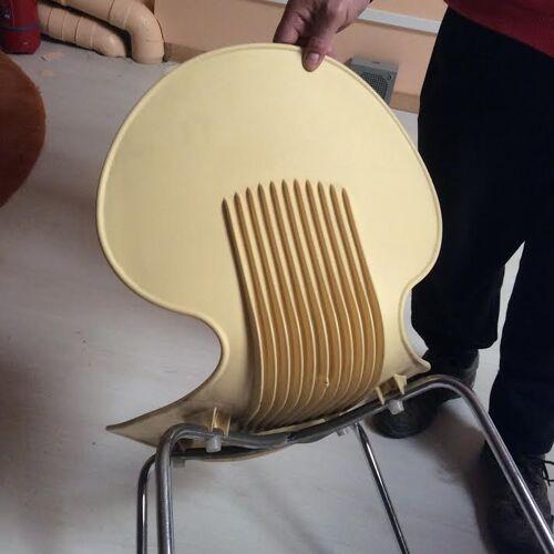 Set de 2 chaises jaune en PVC