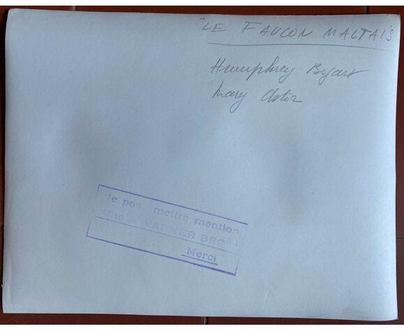 """Photo cinéma originale """"Le Faucon Maltais"""" Humphrey Bogart 20x25cm 1941"""