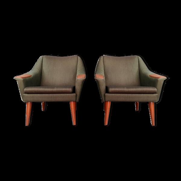 Paire de fauteuils Norvégiens PI Langlo 1960s