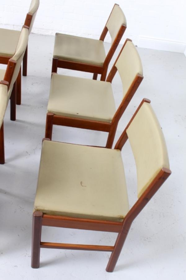 Chaises de Salon Vintage en Teck, Danemark, par Mcm