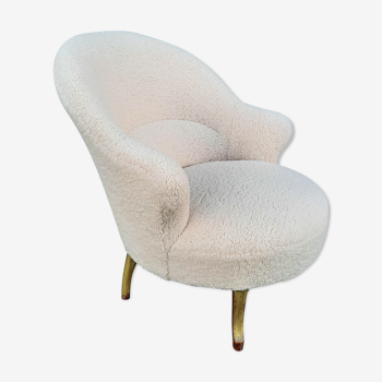 Armchair toad fabric bucklettes sheep effect