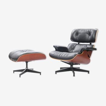 Chaise longue Eames & pouf de Charles & Ray Eames édition Herman Miller