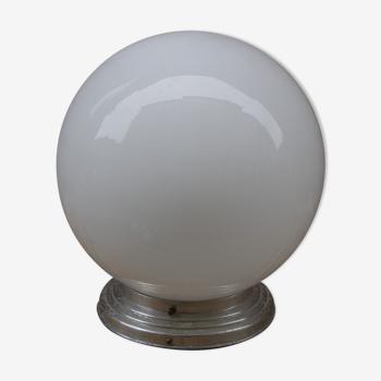 White glass globe ø25 cm