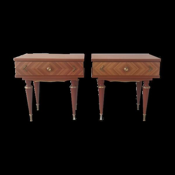 Set de 2 tables de chevet vintage