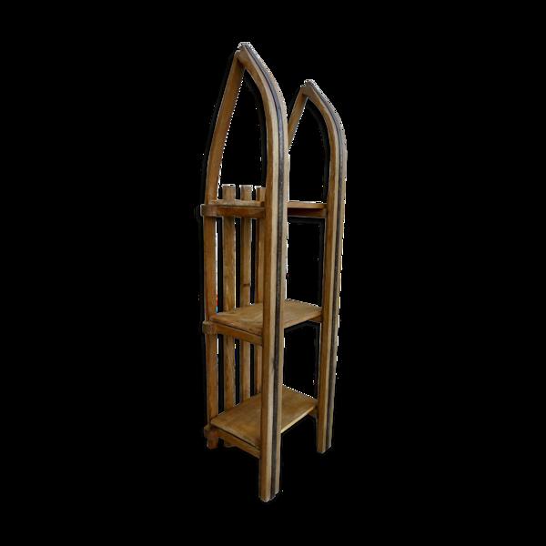 Etagères luge en bois des années 60