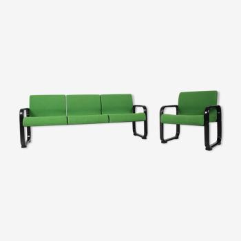 Ensemble de canapé et fauteuil 3-seather Allemagne années 70.