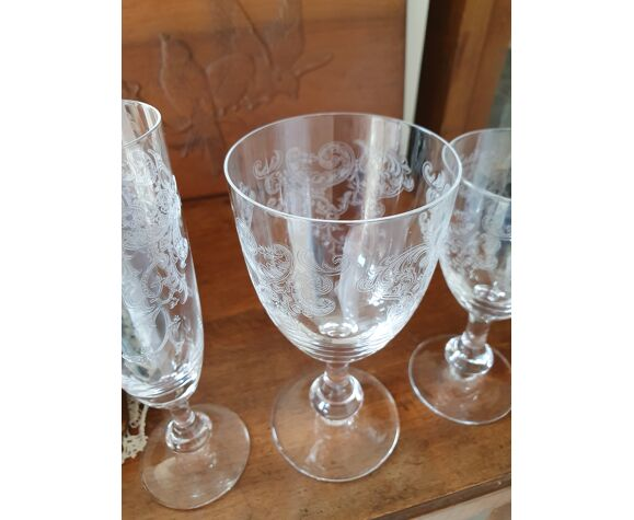 Lot de 24 verres Cristalleries Royales de Champagne