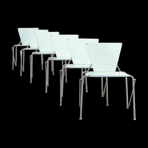 Selency Ensemble de chaise à manger postmoderne des années 80/6
