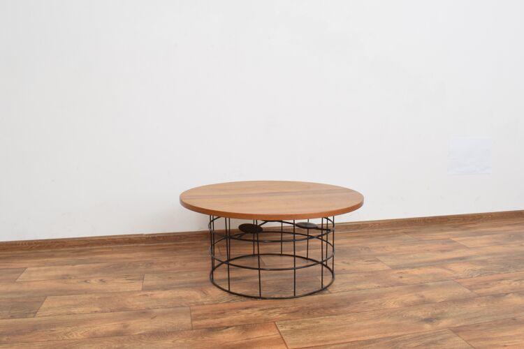 Mid-Century Danish Teak & Metal Coffee Table, 1970s.