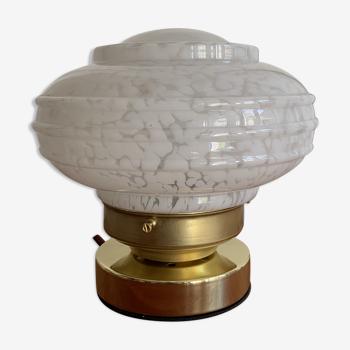 Lampe à poser verre de Clichy