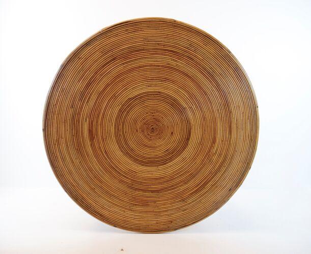 Table à manger en bambou 1950