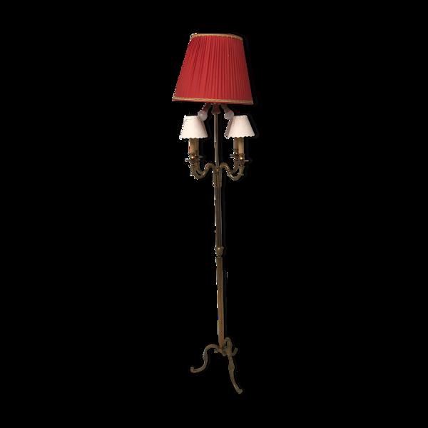 Lampadaire tripode bronze style Louis XV vintage
