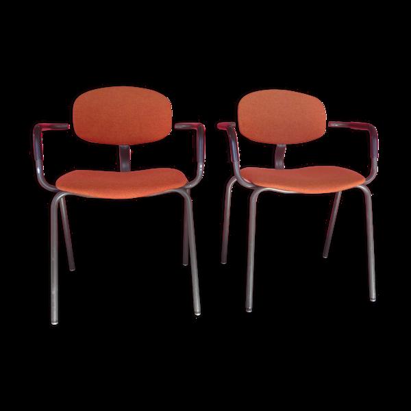Paire de chaises vintage Strafort éditeur