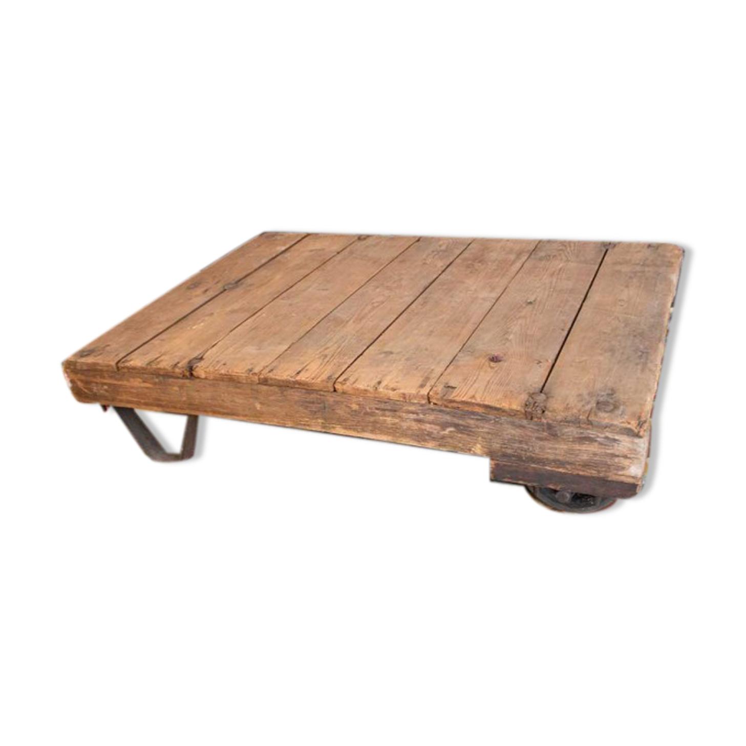 Table basse industrielle vintage
