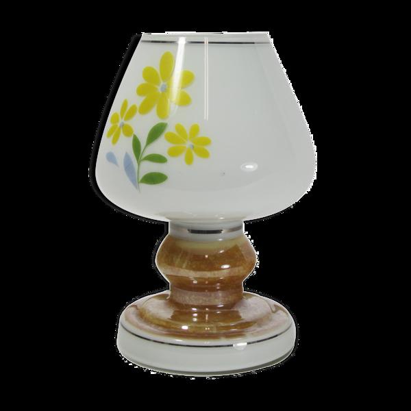 Lampe de table en verre Vitropol 70's